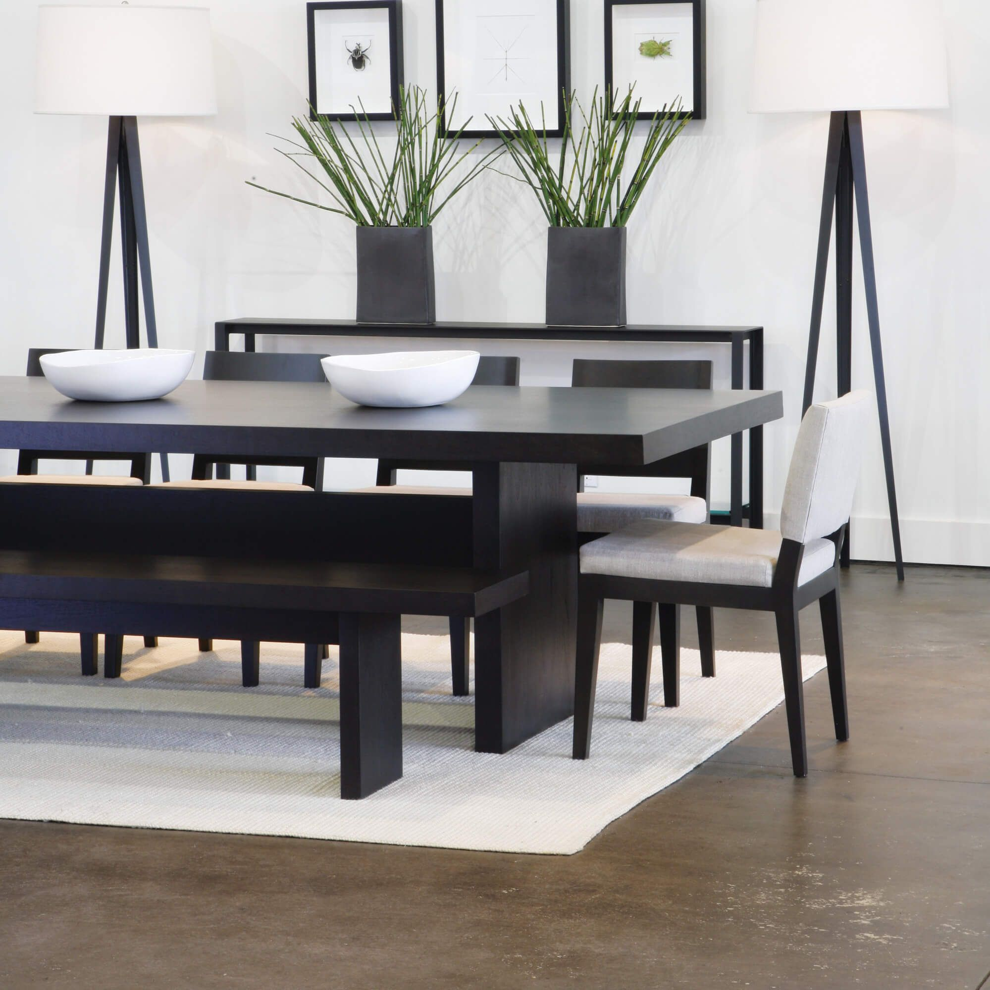 5 piece modern dining room set with bench. This is a great dining ...