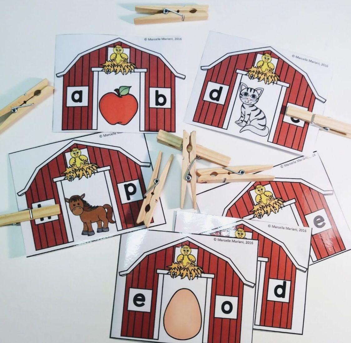 Farm Alphabet Beginning Sounds
