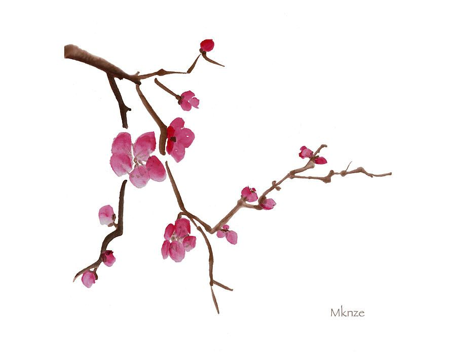 japanese ink painting cherry blossom - Google Search ...