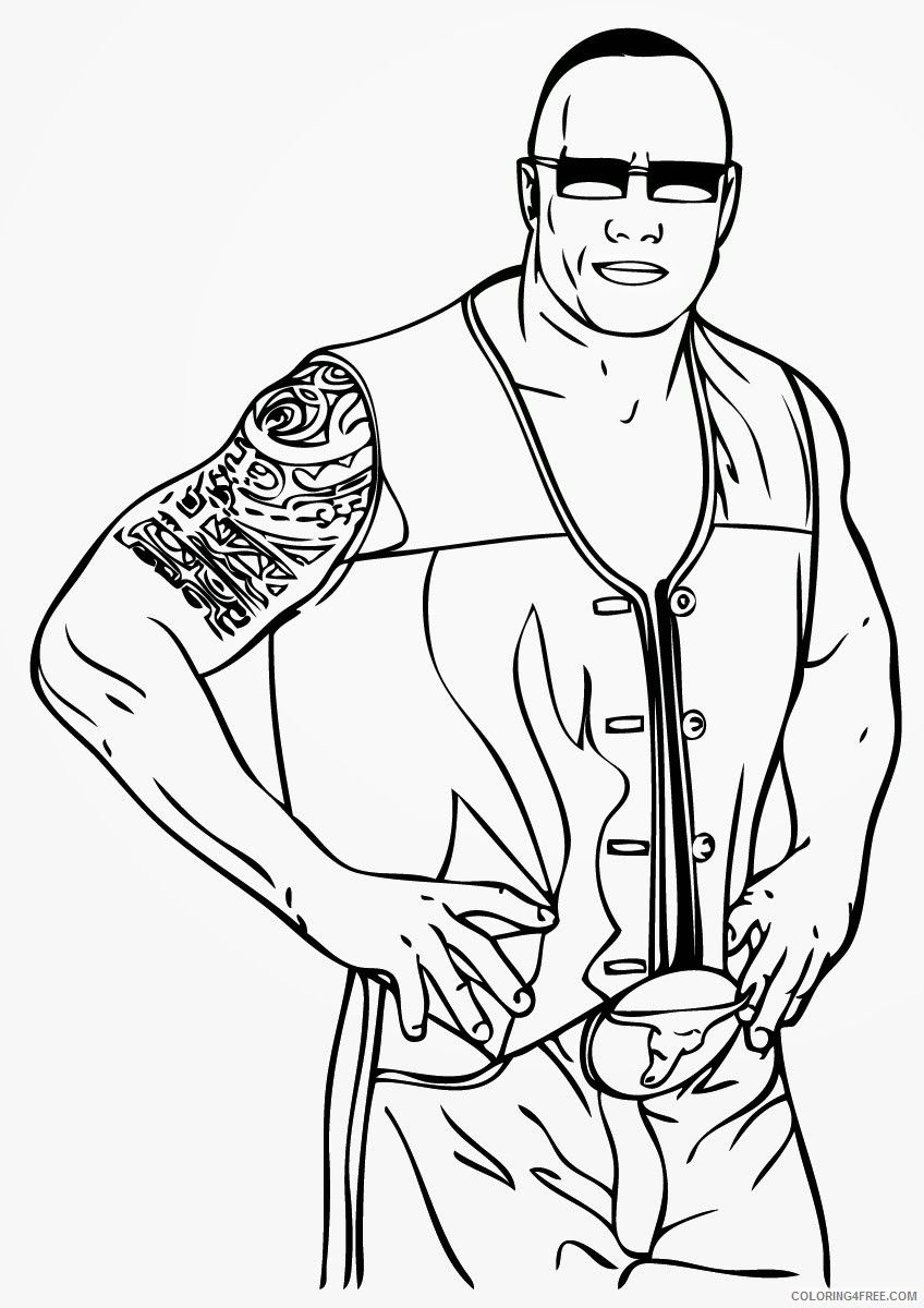 Rock Coloring Page Twisty Noodle Coloring Pages In 2020 Wwe Coloring Pages Cool Coloring Pages Coloring Pages