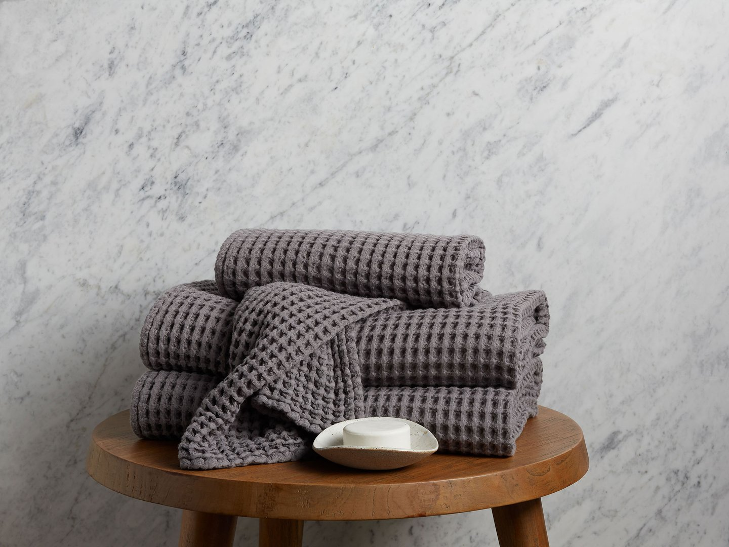 Waffle Bath Towels In 100 Long Staple Turkish Cotton Parachute