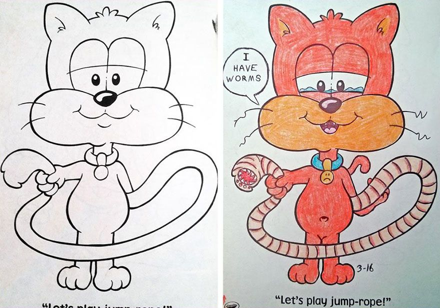 Coloring Book Corruptions: See What Happens When Adults Do Coloring ...