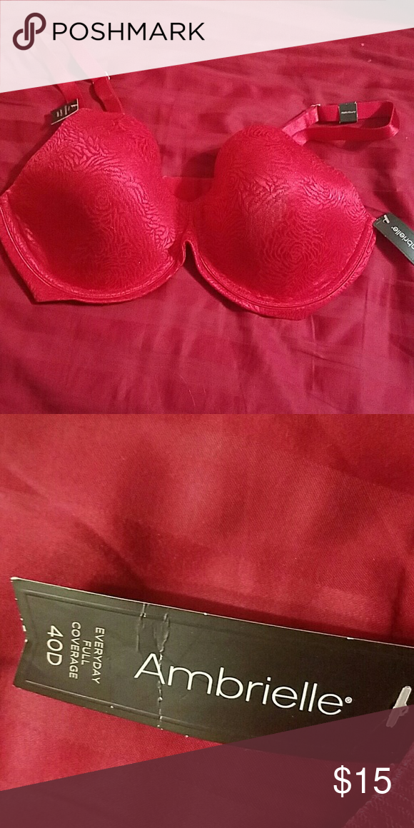 734e3cec27b NWT Ambrielle red bra 40D Beautiful red ambrielle (jcpenney) full-coverage  bra.