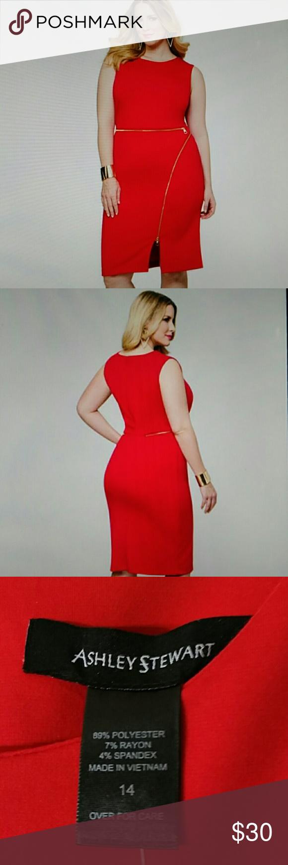 ccd2aafacaf NWT Ashley Stewart Zip Detail Bodycon Sheath Dress Zip detailing (faux)  adds an edge