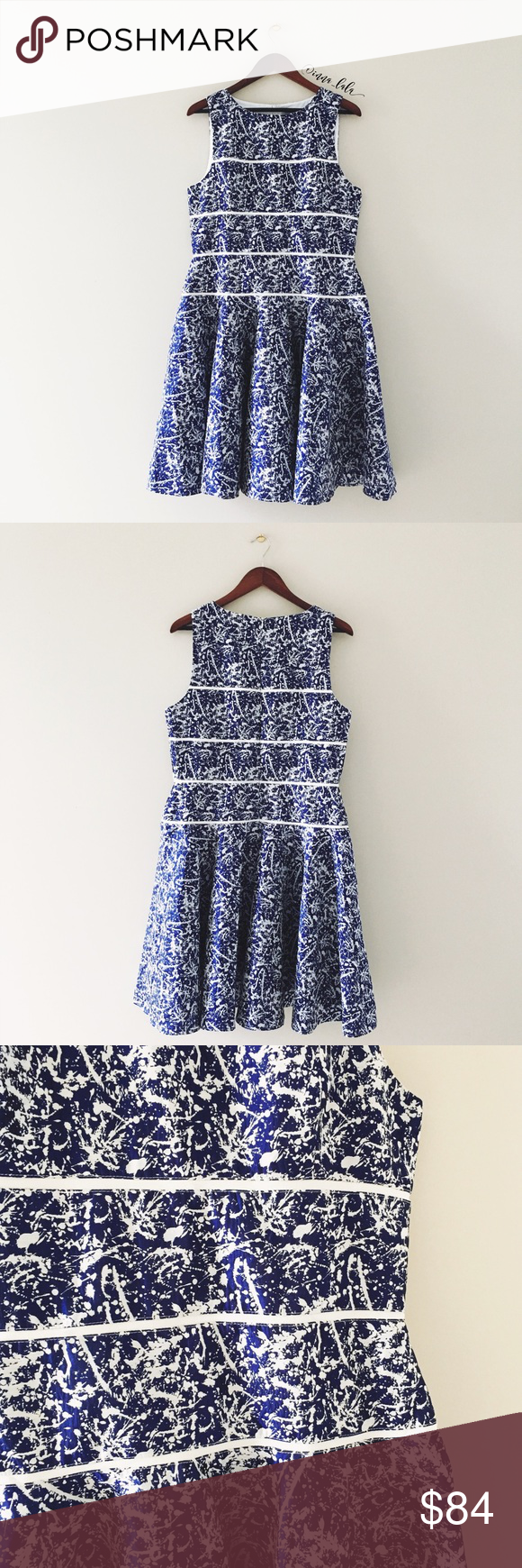 Maeve splatter print brocade sleeveless dress anthropologie and