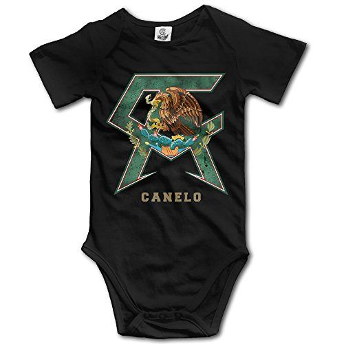 NICKY Short-Sleeve Romper Outfits Newborn BabyCanelo Alvarez Size 24 Months Black. -- You can get additional details at