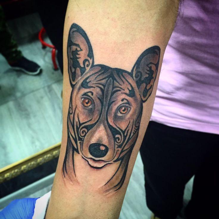 Resultado de imagen para Basenji  собака тату