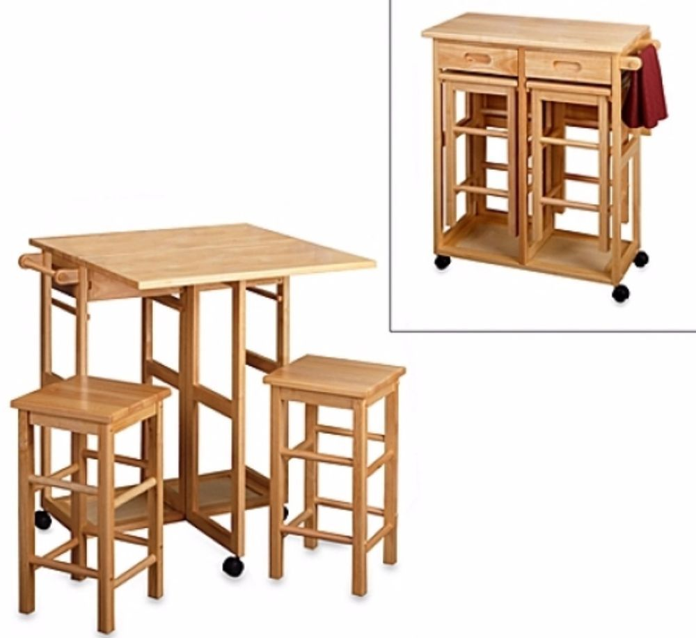 breakfast bars furniture. Natural Breakfast Bar With Two Stools Solid Wood Kitchen Dining Furniture # #dining Bars