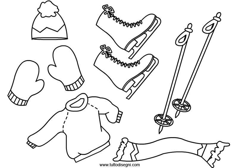 disegni da colorare abbigliamento invernale