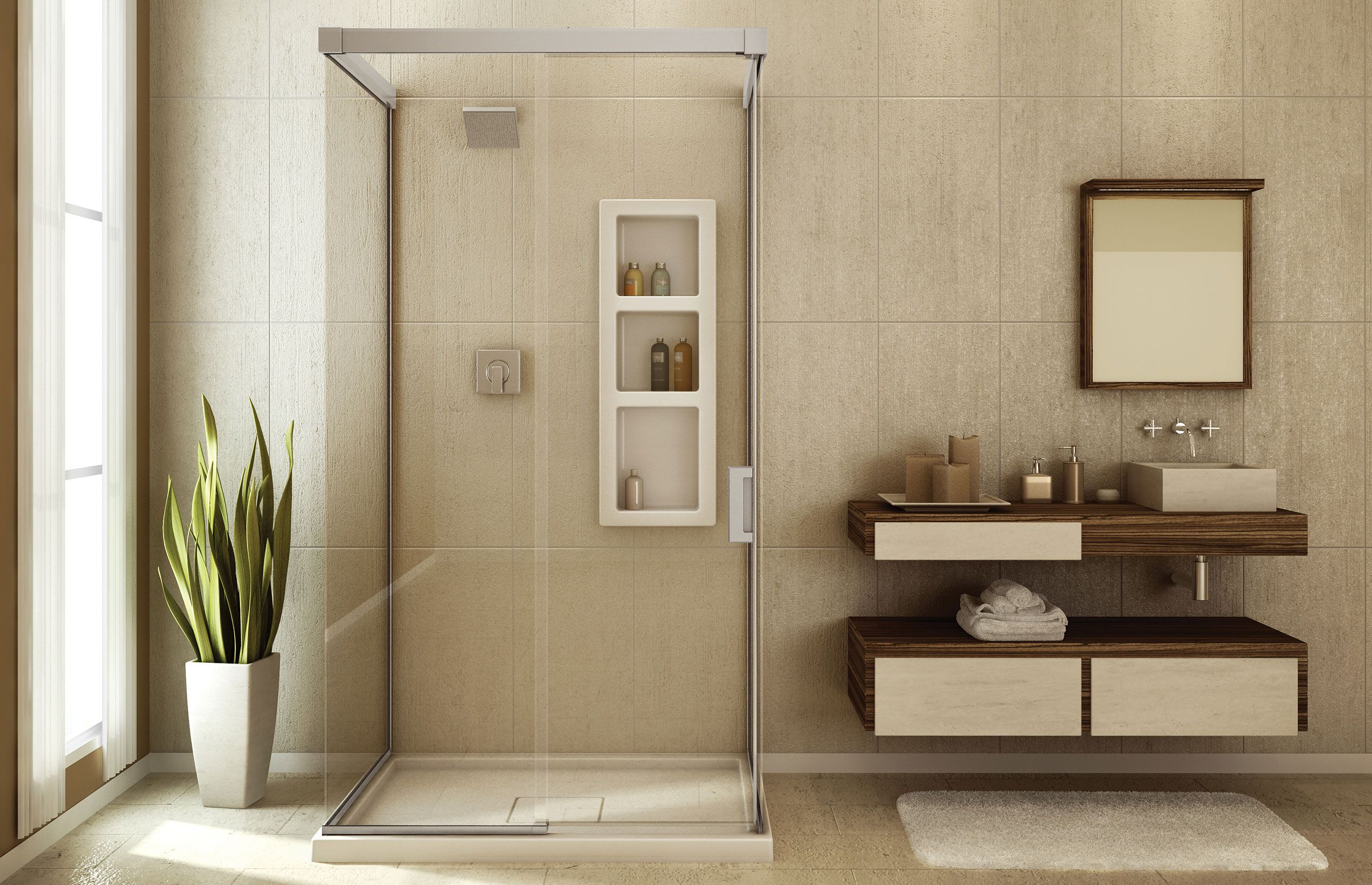 Influence 4836 M Glass enclosures or Wall-mounted shower - Keystone ...