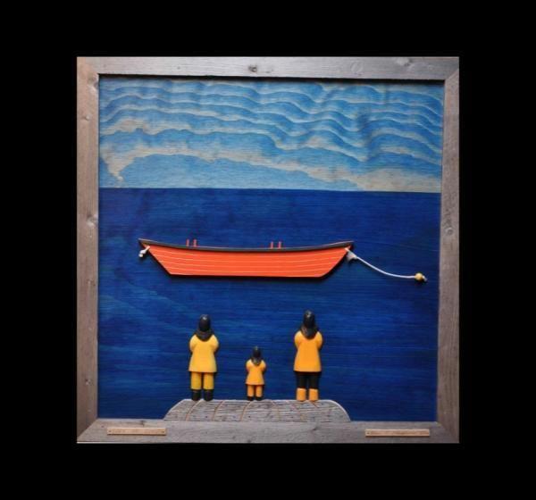'Lark Hr Dory' Wooden Wall Art
