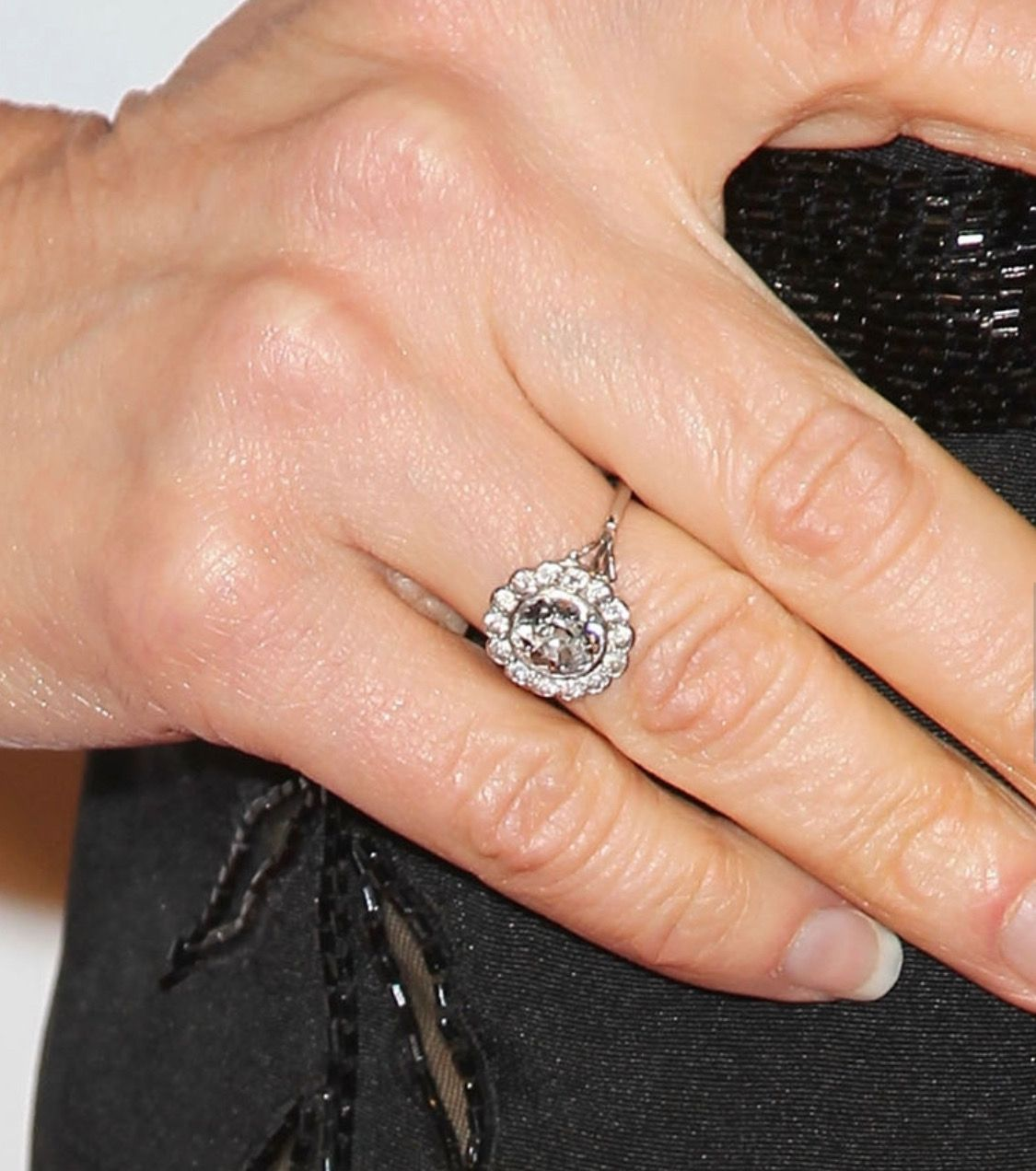 Kyra Sedgwick always wears her pretty floral engagement