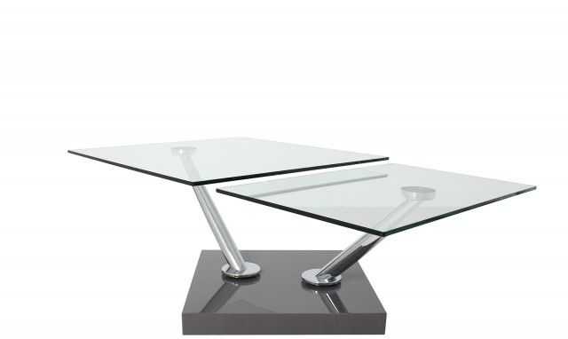 Square Swivel Gl Top Coffee Table