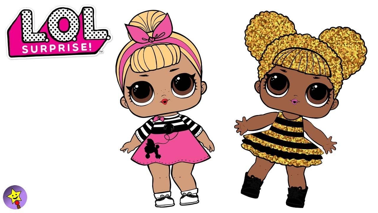 Lol Surprise Dolls Coloring Book Page Compilation Sis Swing Queen Bee Co Coloring Books Coloring Book Pages Happy Magic