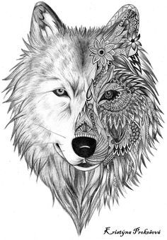wolf tattoo zentalnge mandala tattoos pinterest wolf. Black Bedroom Furniture Sets. Home Design Ideas