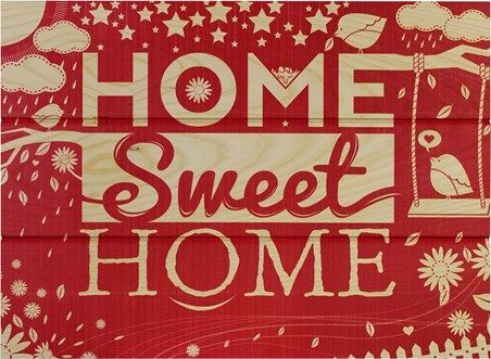 Home Sweet Home Wall Art home sweet home there's no place like home wooden wall art