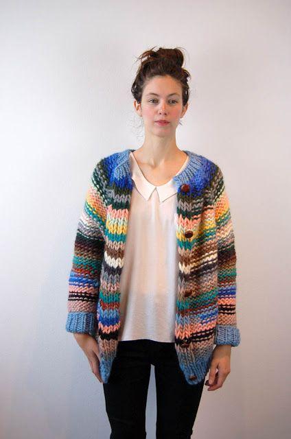 Photo of love stripes in purl stitch – una: maiami.