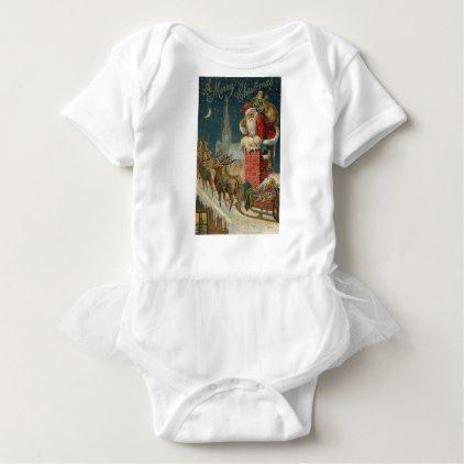 Original vintage 1906 Santa clous poster Baby Bodysuit - original gifts diy cyo customize