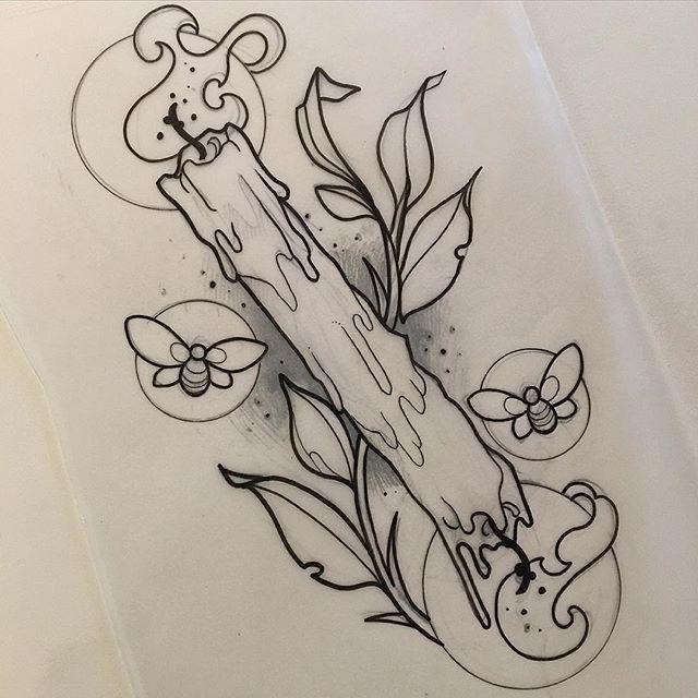 Moths Instead Of Bees Tattoo Ideas Tattoos Candle Tattoo