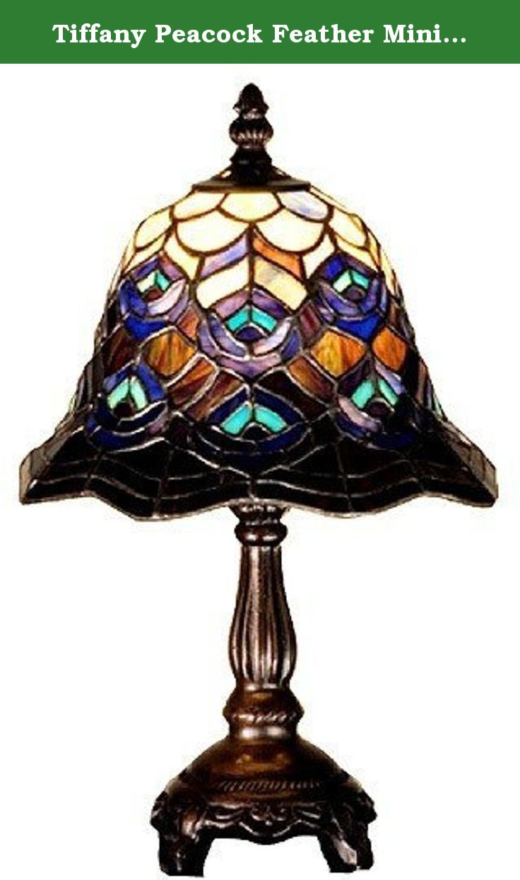 Tiffany Peacock Feather Mini Table Lamp 30317 Features Table