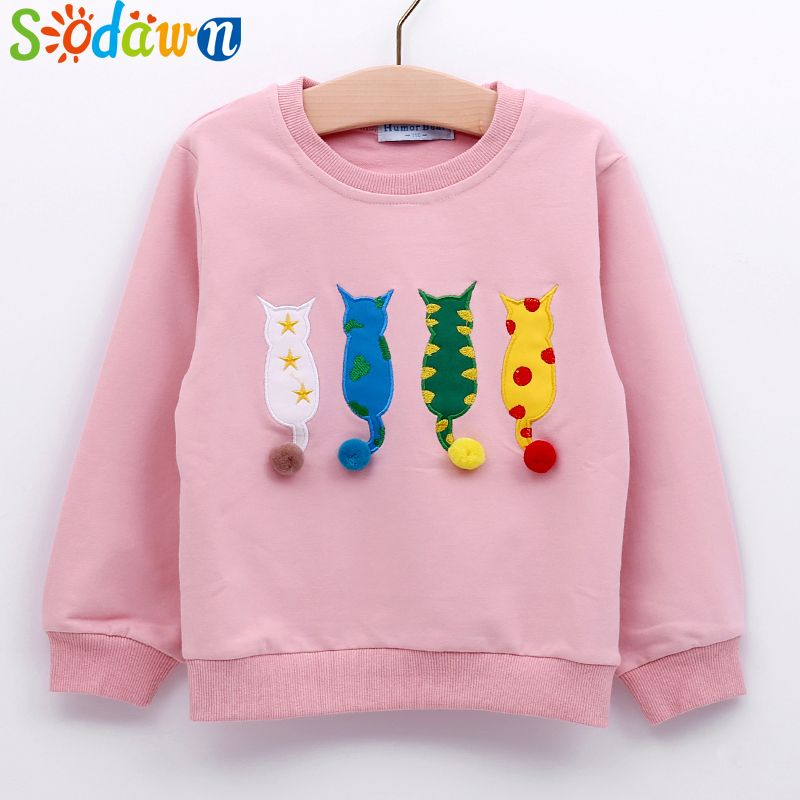 f9a760a2ee454 Sodawn 2017 Autumn Winter New Fashion Cartoon Design Kids Sweater Girls  Clothes Cute Cotton Sweater Long Sleeve T-Shirt //Price: $23.37 // #baby