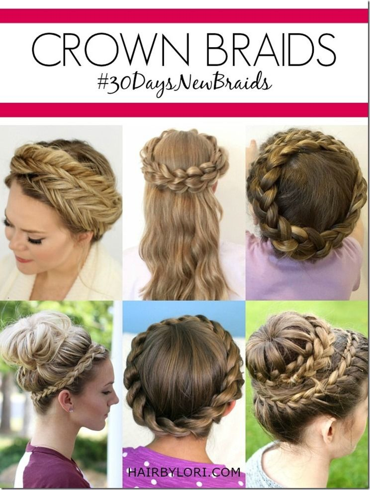 Boho-braid-twisted-crownl-pinterest-hair-tutorial diy projects.