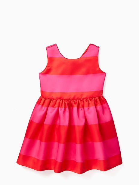 737e1fcef2f1 Kate Spade Toddler Carolyn Dress, Lollipop Red/Bougainvillea - Size 4 Boy  Fashion,