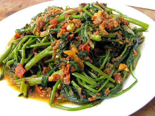Sambal Belacan Kangkong Recipe Yummy Vegetable Recipes Asian Vegetables Nyonya Food