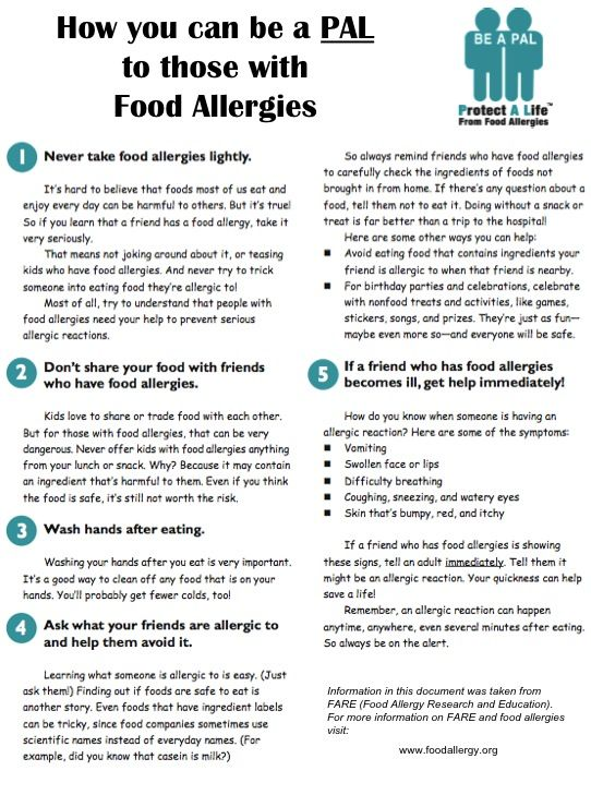 describe how to recognise and deal with allergic reactions to food Food allergies are a growing food safety and public health concern that affect an estimated 4%–6% of children in the united states 1, 2 there is no cure for food allergies and reactions can be life threatening strict avoidance of the food allergen is the only way to prevent a reaction.