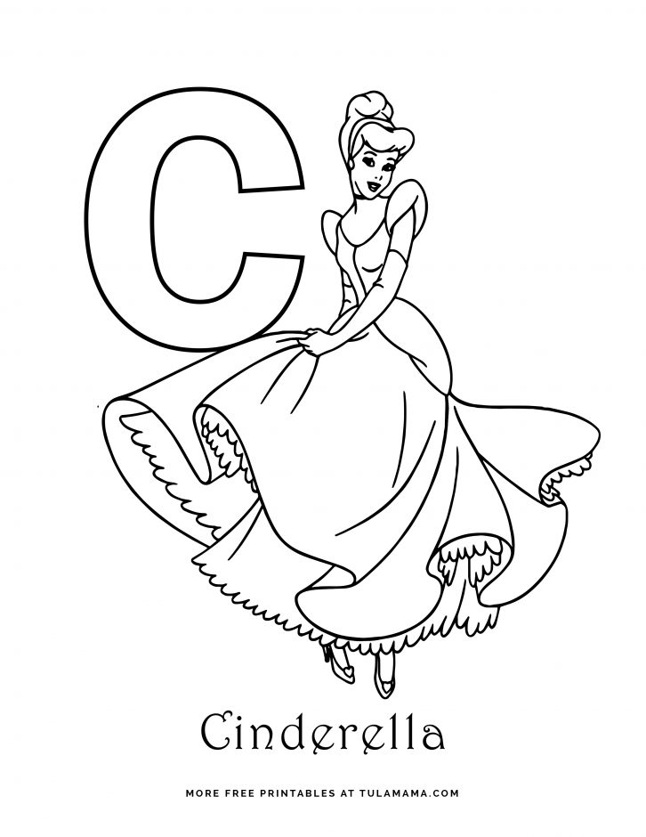 Free Printable Disney Alphabet Coloring Pages In 2020 Disney Alphabet Coloring Pages Letter C Coloring Pages