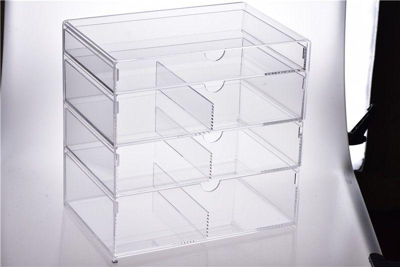 New Anti Scratch Clear Acrylic Cosmetic Jewelry Makeup Organizer Box