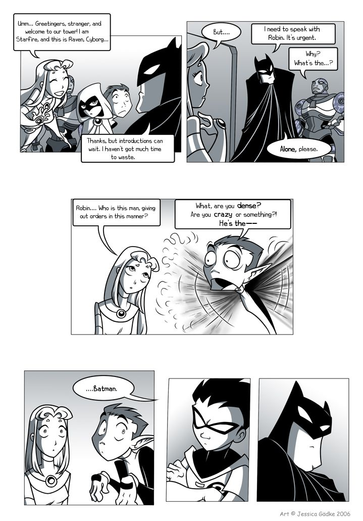 Teen Titans Comic, Page 7  First Page  Ah, Happy -4791