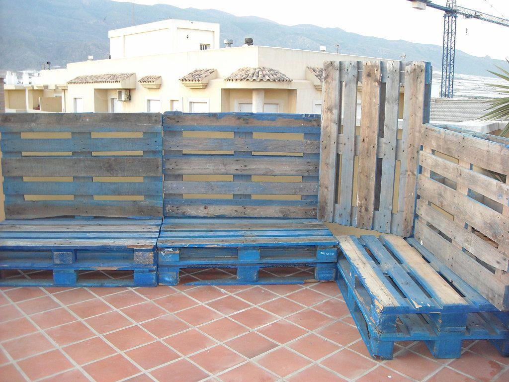 Muebles terraza palets facilisimo buscar con google for Muebles terraza palets