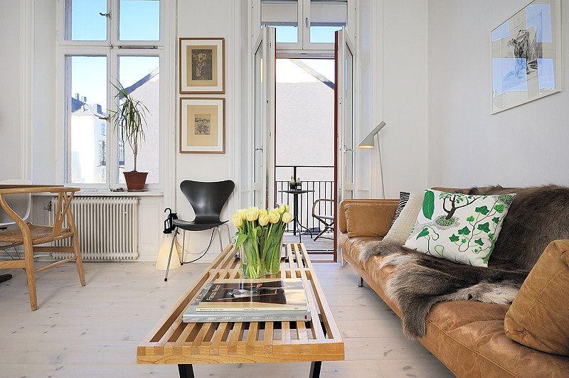 decoración de monoambientes: estilo escandinavo y muebles de ... - Muebles Diseno Nordico