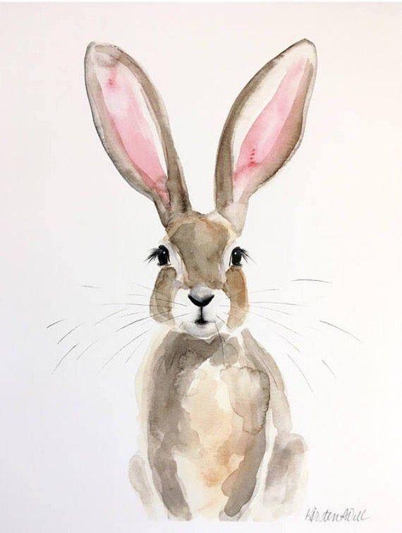 Honey Bunny Watercolor PRINT | Etsy