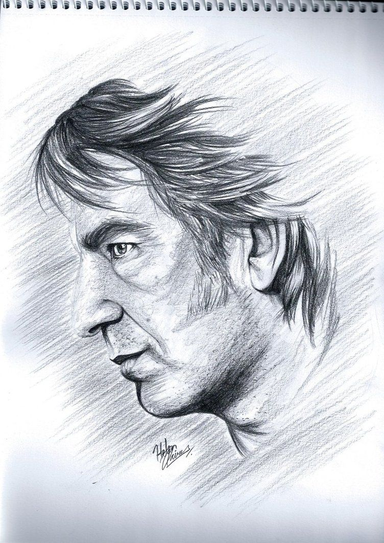 Mr A. Rickman by Helenhsd on DeviantArt