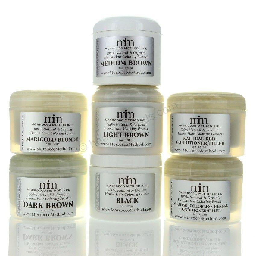 Morrocco Method Henna Hair Color Neutral Henna Hair Dye Contains
