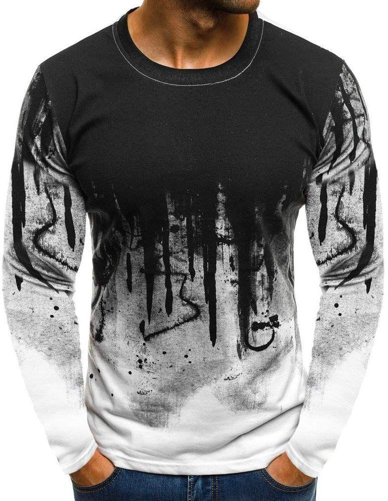 Men/'s Slim Fit Hoodies Long Sleeve Muscle Tee T-shirt Casual Tops Hooded Blouse