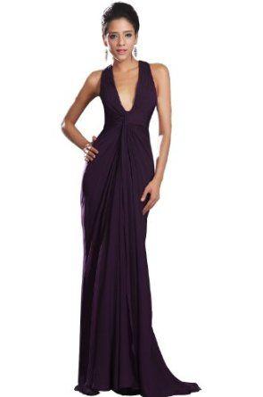 eDressit Deep V neck Purple Evening Dress Prom Ball Gown (00130806 ...
