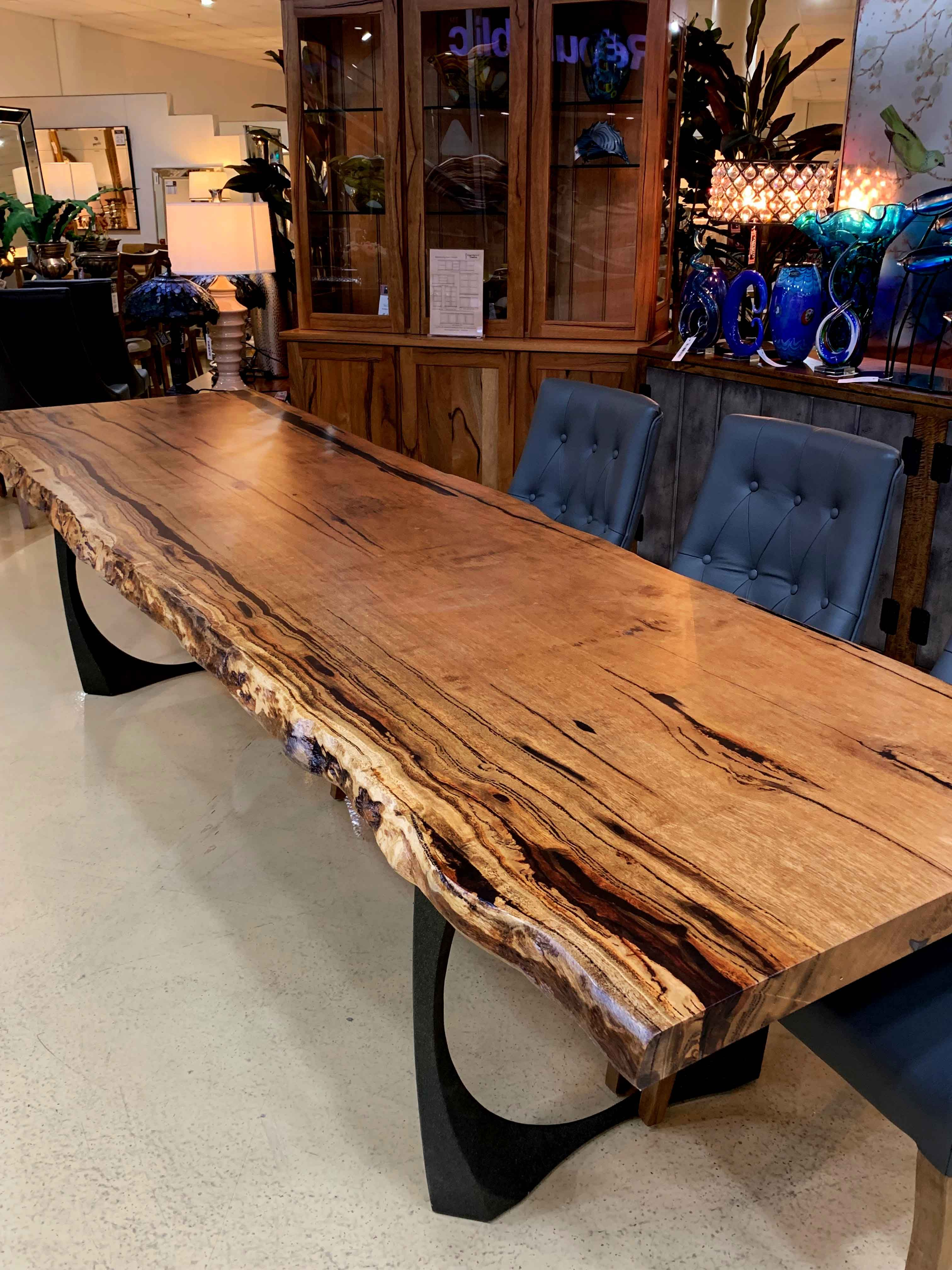 Custom Burl Slab Tables Naturally Timber In 2021 Slab Dining Tables Modern Rustic Dining Table Live Edge Dining Table [ 4032 x 3024 Pixel ]