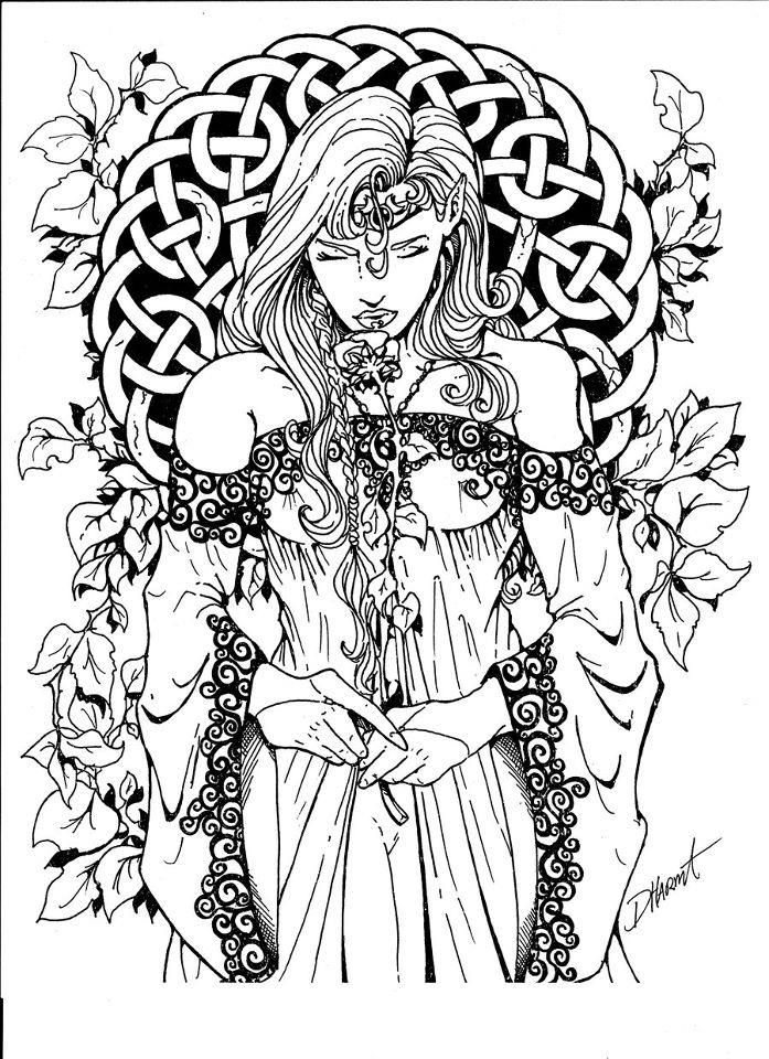 wiccan coloring pages for adults wiccan coloring pages | Ingevuld onder Kleurplaten / Coloring  wiccan coloring pages for adults