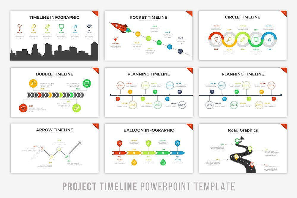 Project Timeline Keynote Version Powerpoint Templates