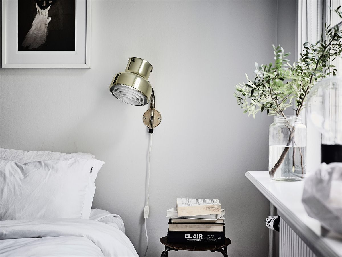 Bedroom wall lighting - Bedroom Light Grey Wall Retro Wall Lamp