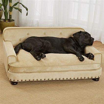 Luxury Large Dog Sofa Bed Micro Velvet Dog Furniture Dog Sofa