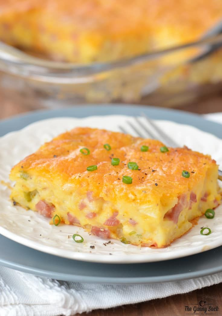 A ham and potato breakfast casserole is perfect for