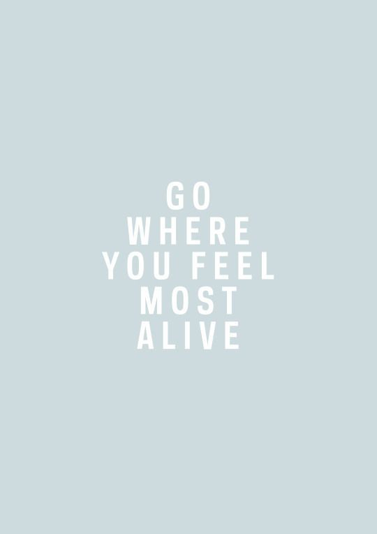 Go Where You Feel Most Alive Quote   Pinteres