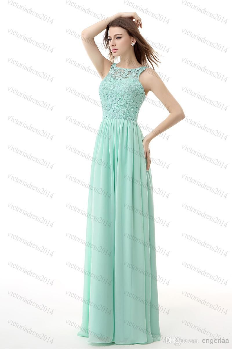 2015 Cheap Prom Dresses Under 80 Long Mint Green Chiffon Backless ...