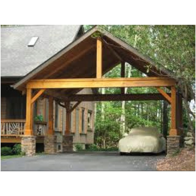 Simple carport pinteres for Garage with carport designs