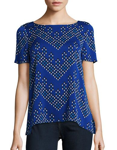 DIANE VON FURSTENBERG Diane Von FurstenbergChevron Dot Silk-Blend Top. #dianevonfurstenberg #cloth #