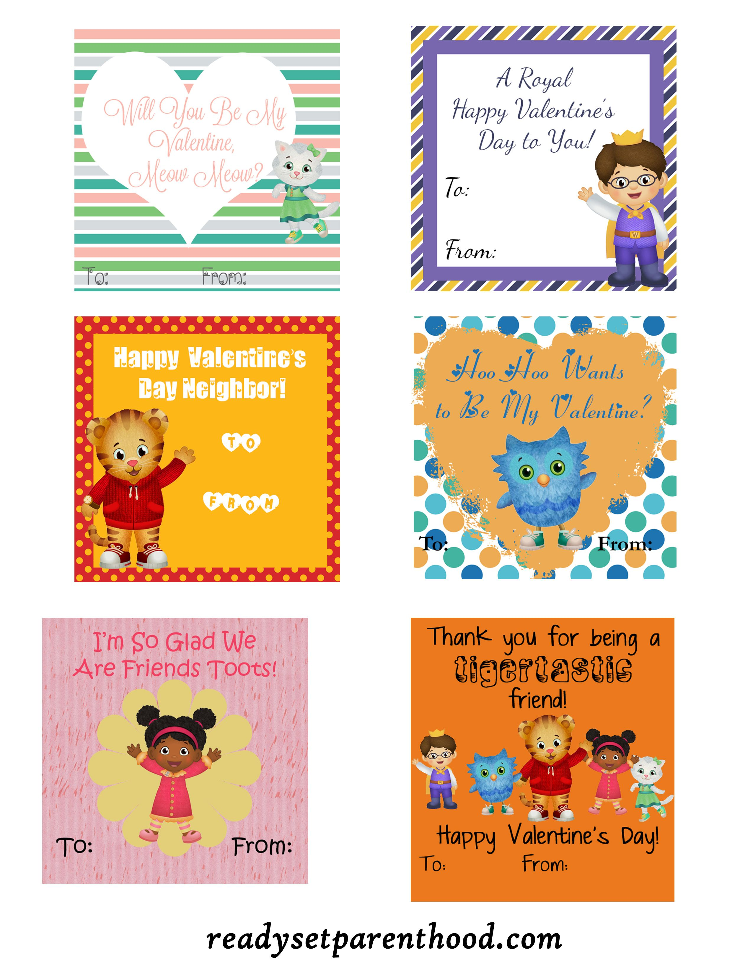 Daniel Tiger Valentines Free Printable